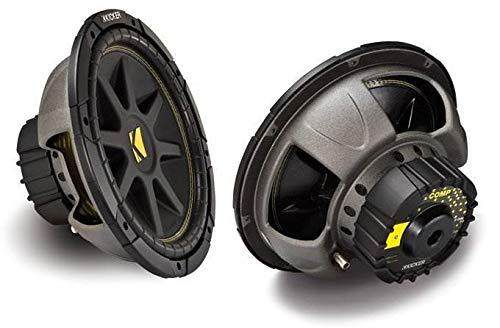 kicker car subwoofers Kicker 12-Inch 300W Power Car Audio Subwoofers Subs C124, Pair | 10C124