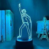 WTCDA 3D Light Anime Re Rezero Start Life in Another World for Bedroom Decoration Kids Birthday Gift led Color Night Light Touch