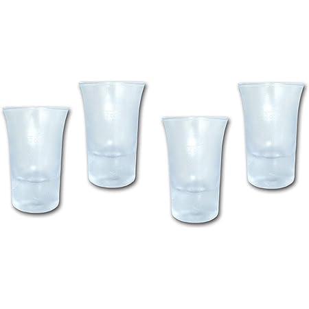 12 Schnapsgläser Shotglas Mehrweg Plastik Stamperl 2cl Glasklar Stamper Pinnchen