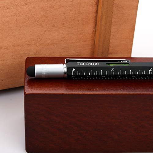 Hot Favorable Screwdriver Metal Pen Pocket Multi Tool Kit 6 in 1-Multi-Functional Sturdy Aluminum DIY Tool Set - Touchscreen Stylus/Ballpoint Pen/Bubble Level / 4