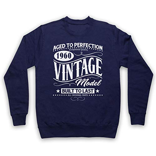 My Icon Art & Clothing 1960 Vintage Model Born In Birth Year Date Erwachsenen Sweatshirt, Ultramarinblau, XS