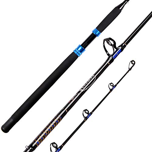 Fiblink 1-Piece Conventional Boat Rod Saltwater Offshore Graphite Casting Fishing Rod(6-Feet, 30-50lb/50-80lb) (50-80-Pound)