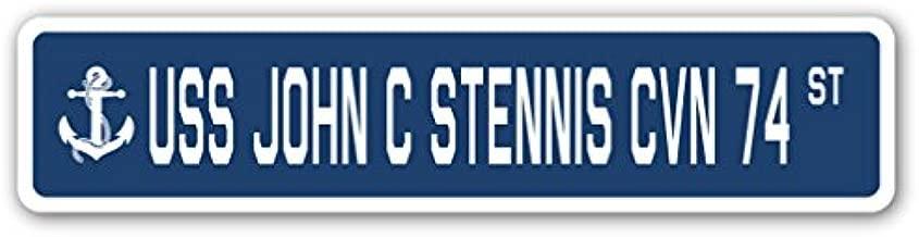 USS John C Stennis CVN 74 Street Sign us Navy Ship Veteran Sailor Gift