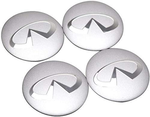 4 piezas, Infiniti FX35 Q50 Q30 ESQ QX50 QX60 QX70 EX JX35 G35 56mm Tapa de buje central para rueda de coche, cubiertas con pegatinas con logotipo, molduras, accesorios para coche