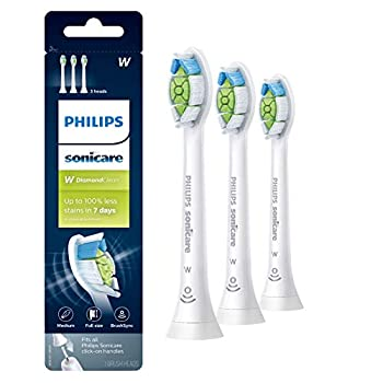 Philips Sonicare DiamondClean Replacement Toothbrush Heads HX6063/65 BrushSync Technology White 3 Pack