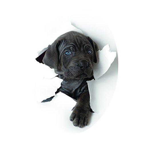 3D Wasserdichter Toilettendeckel Toilettensitz Aufkleber, WC Sitz Tatoo Stickers Deko - Süßer Hund