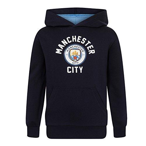 Manchester City FC - Jungen Fleece-Kapuzenpullover mit Grafik-Print - Offizielles Merchandise - Geschenk für Fußballfans - 6-7Jahre