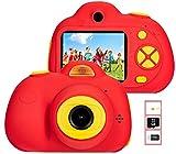 YunLone ToyZoom Fotocamera Bambini 18MP Macchina Fotocamera 1080P HD Digitale Videocamera Bambini con Scheda SD 32GB Regali per Ragazze Ragazzi Zoom 4X / Due obiettivo/120° Grandangolar