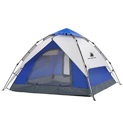 JSX Wasserdichtes winddichtes Picknickzelt-Familienzelt der 3-4 Personen hydraulisches automatisches Campingzeltdoppeltes im Freienzelt