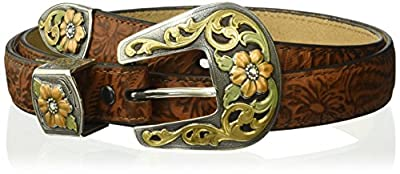 Ariat Women's Multi Metal Buckle Set Belt, brown, Extra Large