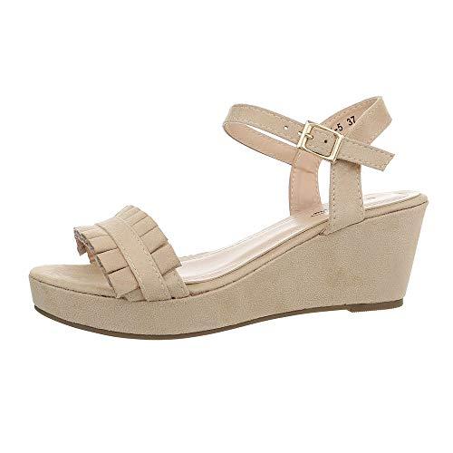 Ital-Design Damesschoenen Sleehak sandalen