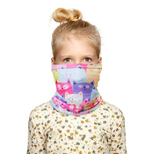 PPangUDing Multifunktionstuch Schlauchschal Kinder Sommer Atmungsakt Schnelltrocknend Winddicht Motorrad Mundschutz Halstuch Bandana für für Junge Mädchen