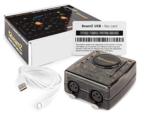 beamZ DMX USB-Schnittstelle mit WiFi, Steuerung per PC/Laptop/Tablet, 128 DMX-Kanäle, Software: ESA2 BeamZ Edition/Light Rider BeamZ Edition, Betriebssystem: Windows und Mac OS, inkl. USB-Kabel