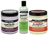 Aunt Jackies Curls & Coils - Lot de 3 soins capillaires - gel définition des boucles Curl La La 426 g/après-shampoing sans rinçage hydratation intense Quench 355 ml/masque réparation intense 426 g