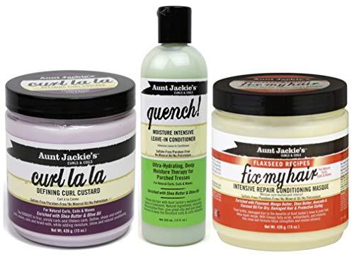 Aunt Jackies Curls & Coils - Lot de 3 soins capillaires - gel définition des boucles Curl La La 426...