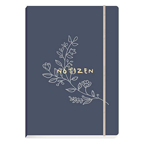 Notizbuch DIN A5, 176 hochwertige Seiten gepunktet| Notebook, Bullet Journal, Skizzenbuch mit edlem Softcover| Stilvolles Geschenk und schöne Geschenkidee