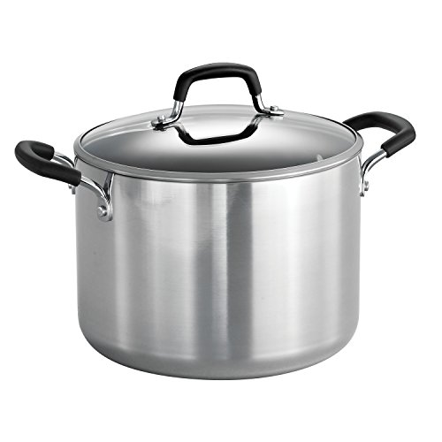 target stock pots Tramontina 80132/030DS Style Aluminum Nonstick Stock Pot, 8-Quart, Mirror Polished, Made in USA