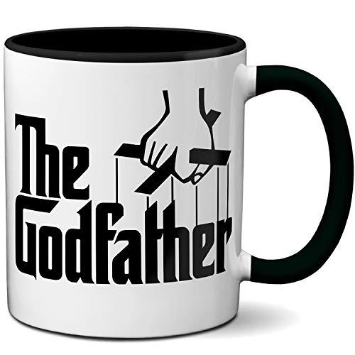OM3® - The Godfather - Tasse | Keramik Becher | 11oz 325ml | Beidseitig Bedruckt | Schwarz