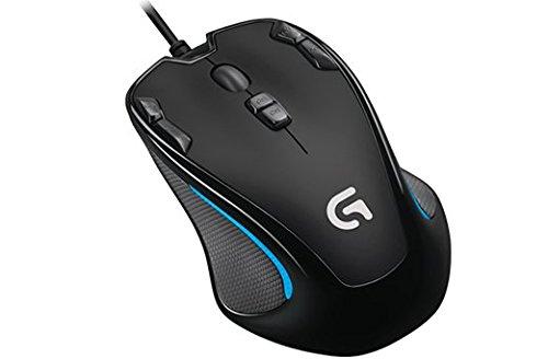 Mouse Gamer Logitech G300s com Design Ambidestro e 9 Botões Programáveis