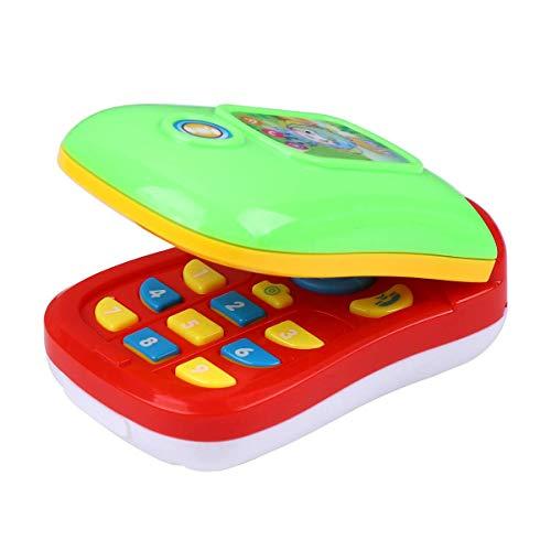Juguete musical Niños Appease Teléfono Móvil Teléfono Inteligente Juguete con Música y Luces Electrónico Educativo Juguete de Aprendizaje para Niños Bebé sin Batería LTLNB