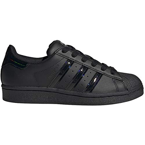 adidas Originals Kids' Superstar Sneaker, Core Black/Black/Black, 5.5