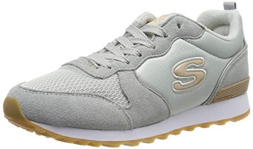 Skechers Retros-OG 85-goldn Gurl, Baskets Femme,Gris (Light Gray Suede/Nylon/Mesh/Rose Gold Trim Ltgrey) , 37 EU ( 4 UK )
