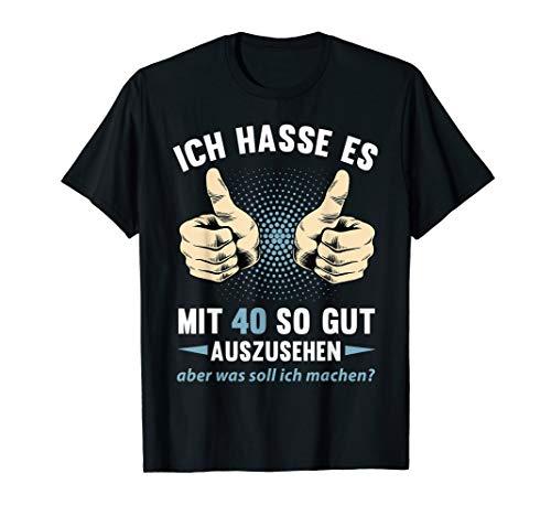 40. Geburtstag Damen Herren 40 Jahre Jahrgang 1980 Geschenk T-Shirt