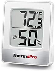 ThermoPro TP49 Mini Termómetro Higrómetro Digital Termohigrómetro de Interior Medidor de Temperatura y Humedad para Medir Ambiente del Hogar