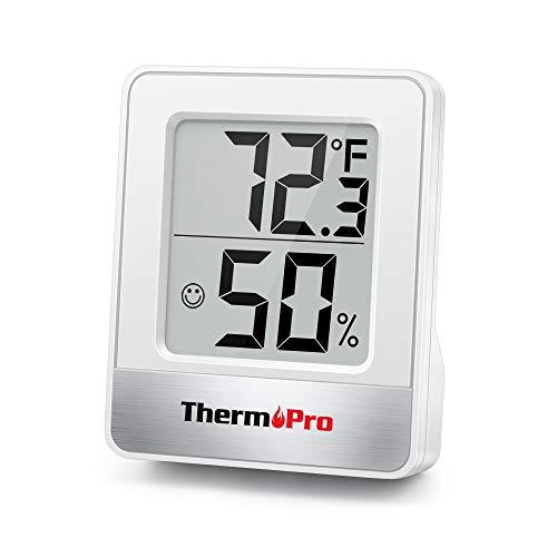 ThermoPro TP49 Petit Hygromètre Numérique D'intérieur Thermomètre D'ambiance Moniteur de Température et Humidimètre pour Le Confort du Bureau à Domicile Thermo Hygromètre