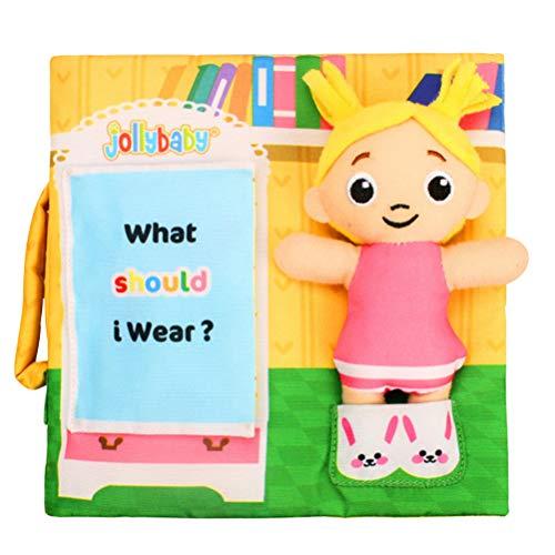 STOBOK Stoffbuch Baby MädchenM Muster Weiches Bilderbuch Pädagogische Spielbuch Stoffspielzeug