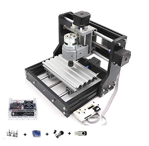 DIY Mini 1610 PRO Milling Machine 3 Axis GRBL Control CNC Router Kit Engrave PVC,PCB,wood router engraver Engraving Machine CNC1610 Pro with Offline Hand Control (1610 Pro w/offline controller)