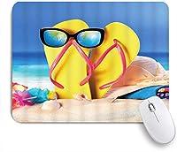 VAMIX マウスパッド 個性的 おしゃれ 柔軟 かわいい ゴム製裏面 ゲーミングマウスパッド PC ノートパソコン オフィス用 デスクマット 滑り止め 耐久性が良い おもしろいパターン (ビーチオーシャンウェーブビーチサンドシーサイドサンセットテーマ)