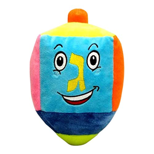 Dreidel Plush Toy Build Your own Stuffed Draydel Craft for Kids & Adults - Hanukkah Party Decorations, Menorah Gift, Small - Multicolor (Single)