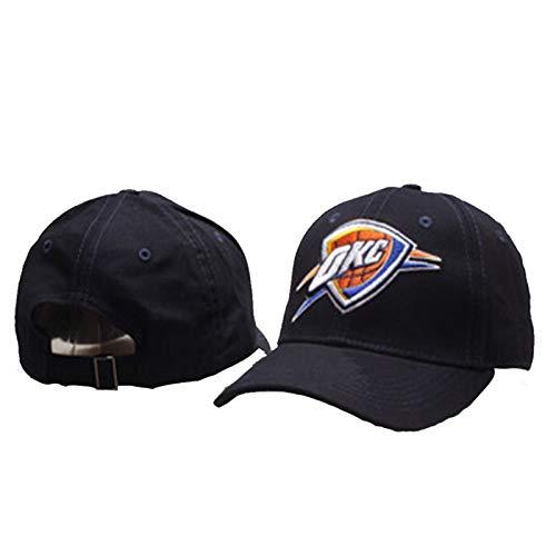 JQER Oklahoma City Thunder Cap de Baloncesto - 2021 Unisex Summer Summer Ajustable Outdoor Sports Cap Fans Transpirable A Prueba de Viento Sunhat Black