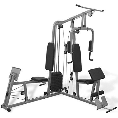 vidaXL Panca Fitness Multifunzione per la Casa Palestra Allenamento Muscoli