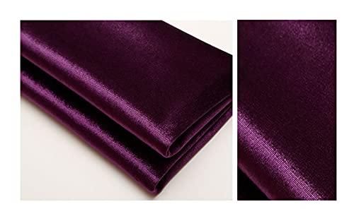 Tela de Sofá Tela de Tapicería para Sillas 150 Cm de Ancho Usado para Costura y Artesanías Mesa de Comedor Protector Encimera(Size:L1mxW1.5m,Color:Deep Purple-1)