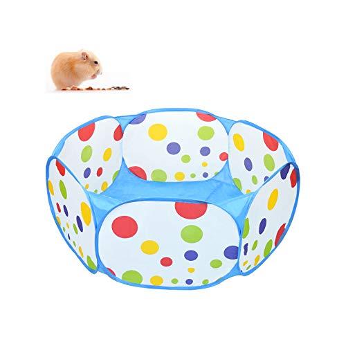 Andiker - Piccolo box per animali domestici, portatile per esterni, recinti per cortile, pieghevole, per porcellini d'India, criceti, cincillà, ricci, conigli (blu)