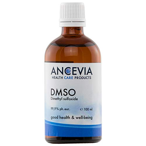 ANCEVIA® - DMSO 100 ml - 99.9% Pureza Ph. Eur. - Dimetilsulfóxido – pureza farmacéutica - en botella de vidrio ámbar