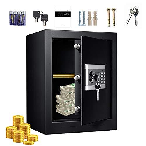 Elektronischer Deluxe-Digital-Safe und Schließfach, Enthält Anweisungen, AA (UM-3) -Batterie, Expansionsschraube, Schlüssel, feuerfeste wasserdichte Tastaturverriegelung, Aufbewahrung für Bargeld