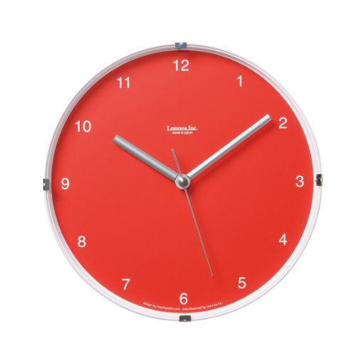 Lemnos LC05-03 North - Reloj de Pared pequeño con Fondo Tra