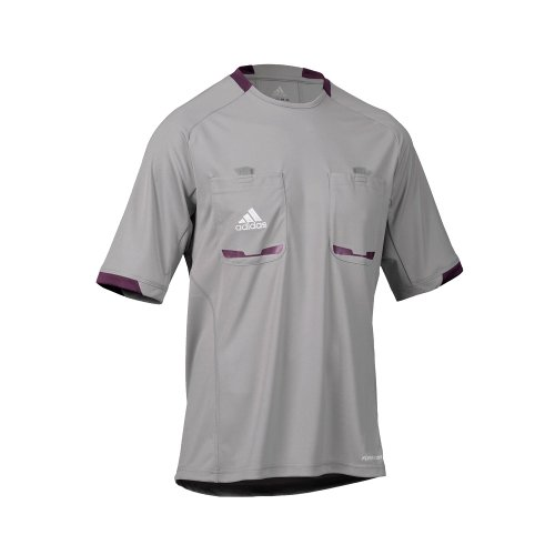 adidas Herren kurzärmliges Schiedsrichter Trikot Referee 12, Aluminum/Purple Beauty F10, L, X19640