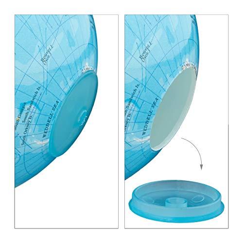 Relaxdays Spardose Globus HxBxT: 16,5 x 14 x 14 cm, politische Weltkarte, englische Beschriftung, Weltkugel, bunt - 7