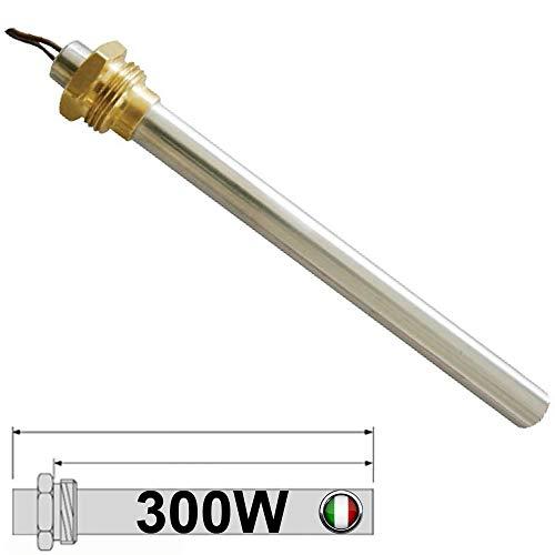 Easyricambi - Bougie   résistance d allumage pour poêle à pellets 300 W, 148 mm, 138 mm; diamètre 9,9mm; filetage 3 8'' Pour AMG Cadel