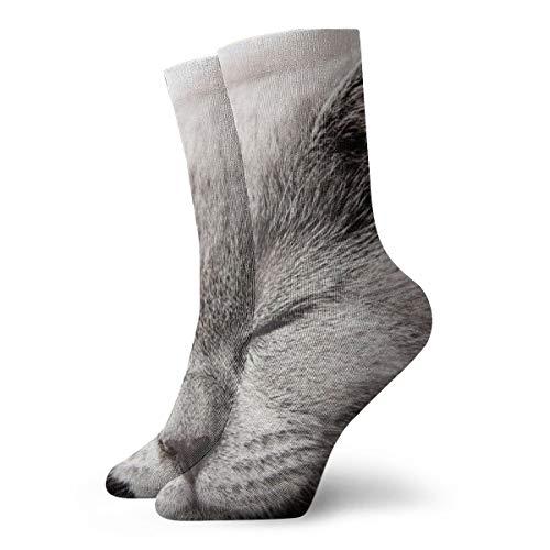 OUYouDeFangA Schlafende Kätzchen-Socken für Erwachsene, Baumwolle, klassische kurze Socken für Yoga, Wandern, Radfahren, Laufen, Fußball, Sport
