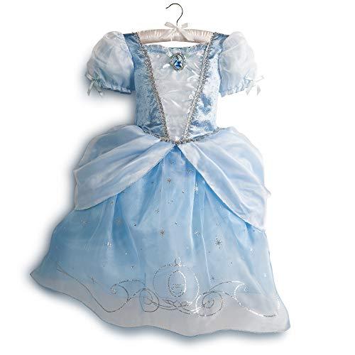 DS Disney Store - Disfraz de niña original de Cenicienta Princesa 9-10 años