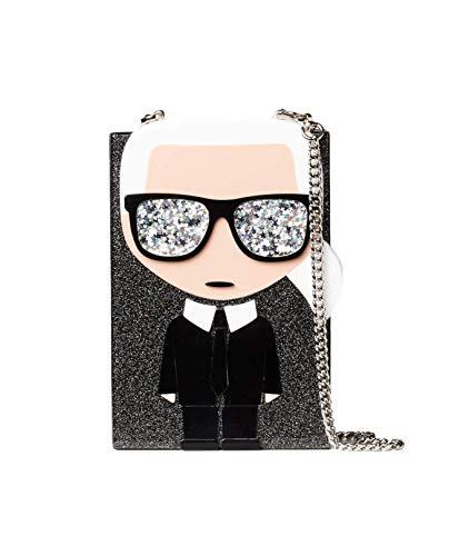 Karl Lagerfeld Bolso Clutch Karl Ikonik Minaudiere 201W3149 Color Negro-