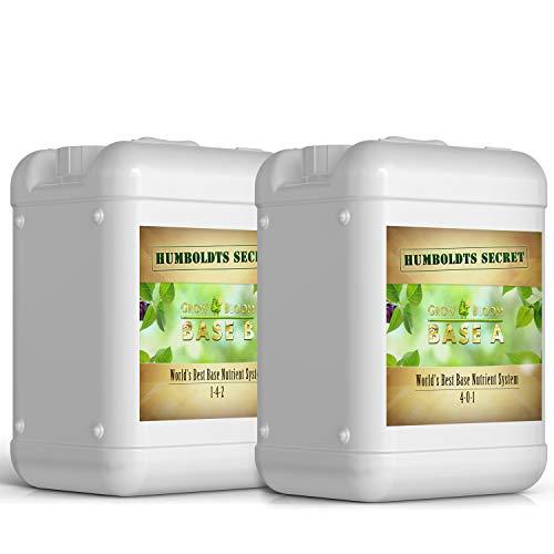 Humboldts Secret Base A & B Bundle – World's Best Base Nutrient System – Liquid Nutrient/Fertilizer for Indoor Plants – Supports Vegetative and Flowering Stages of Plants – Set of 5 Gallons