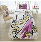 Disney Rapunzel Duvet Cover, Sheets, Pillow case Three-Piece Set for US Twin Sized Bed