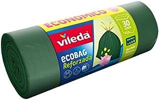Vileda Ecobag Reinforced Maxi Roll - Trash Bag of 30 litres, Pack of 30