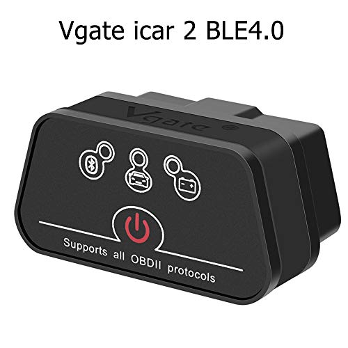 vgate OBD2 Bluetooth, icar 2 BLE4.0 OBDII Interface OBD Diagnosegerät Motor Prüfen für iOS, iPad und Android (schwarz)